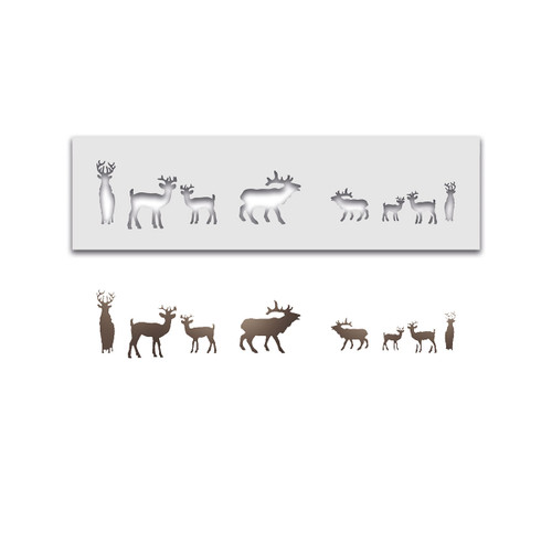 Christmas Holiday Deer layering stencil