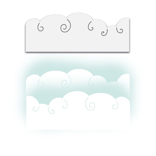 Snow clouds layering stencil