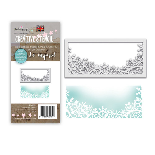 Snowflake Flurry Layering Stencil