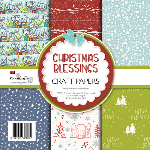 """Christmas Holiday Blessings Paper Pack 6 x 6"""""""