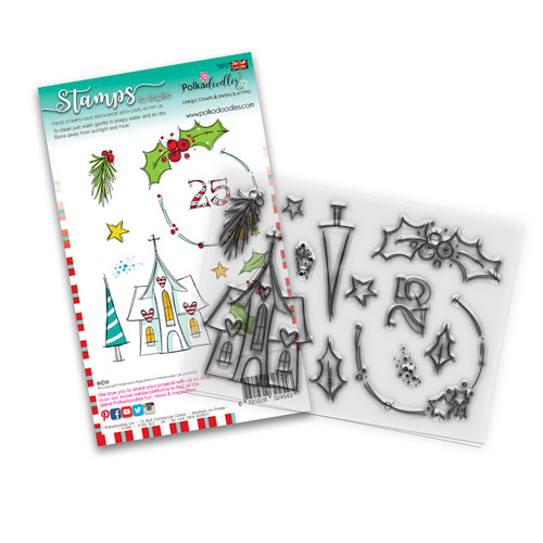 Holly Blessings clear Stamp set - 12 stamps