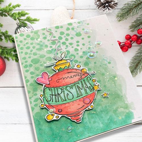 Heartfelt & Joy Christmas Text clear Stamp set