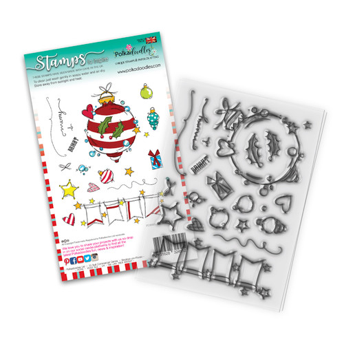Baubles & Banners Christmas clear Stamp set