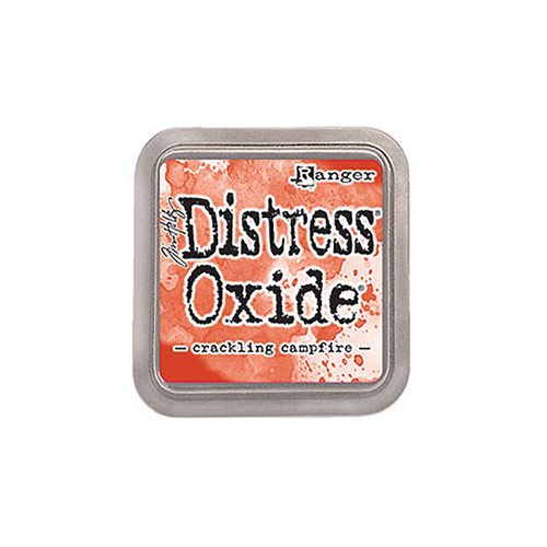 Crackling Campfire Distress Oxide Ink Pads are a water-reactive dye & pigment ink fusion that creates an oxidized effect when sprayed with water. Use with stamps, stencils, and direct to surface. Blend using Ink Blending Tools and Foam. Re-ink using Distress Oxide Reinkers. Ink pad measuring 3 x 3""