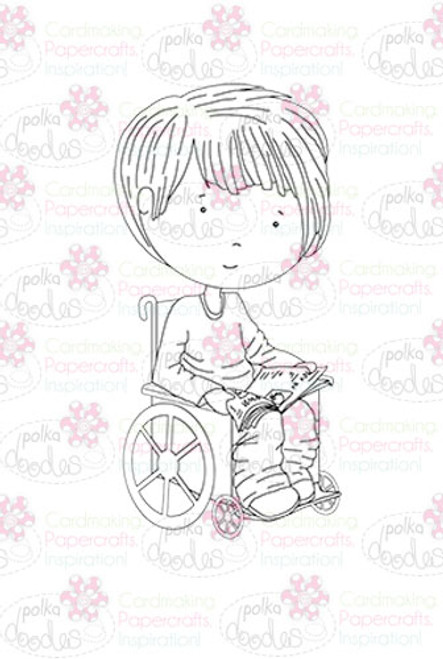Ben In a Wheelchair digital stamp download