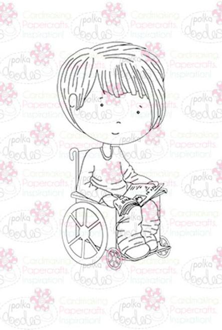 Ben In a Wheelchair digital stamp download