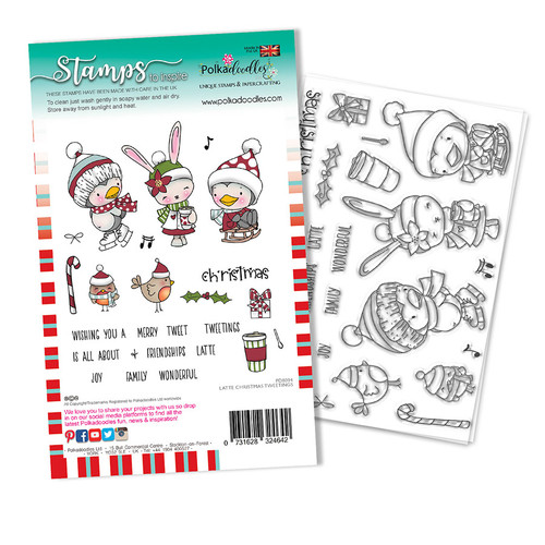 Latte Christmas Tweetings stamp set (PD8094A)