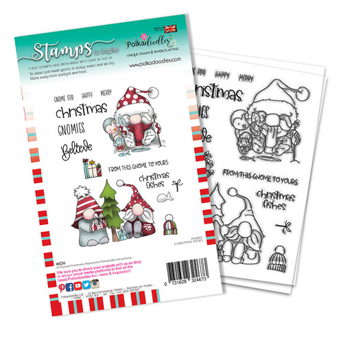 Christmas Fishes stamp set (PD8097A)