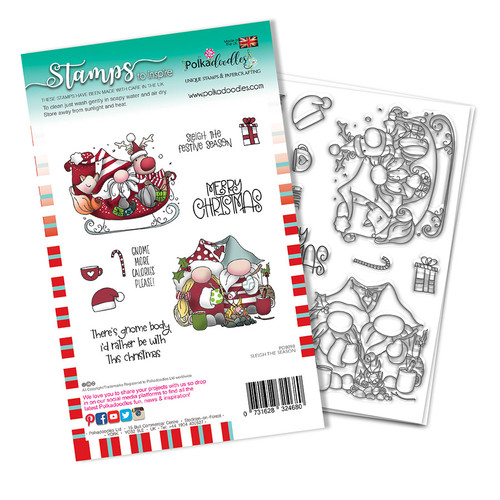 Sleigh The Season Christmas Holiday stamp set (PD8098A)