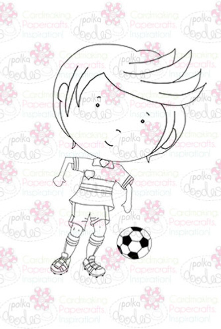 Footballer - downloadable digi stamp
