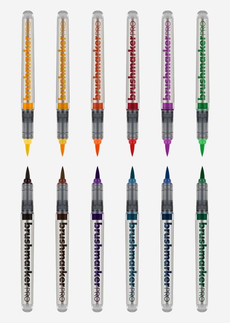 Karin Brushmarker Pro 12 pcs Set  - 12 Basic colours