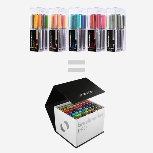 Karin Brushmarker Pro Mega Box 60 Color Set +3 blenders