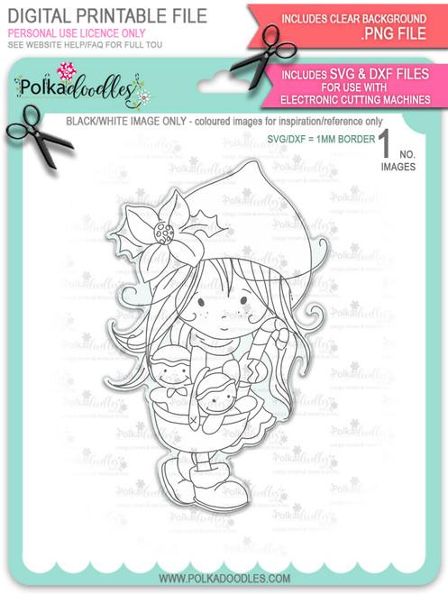 Gingerbread Basket - Winnie North Pole download including SVG file