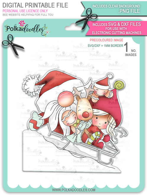 Hang on - precoloured Winnie North Pole download including SVG file