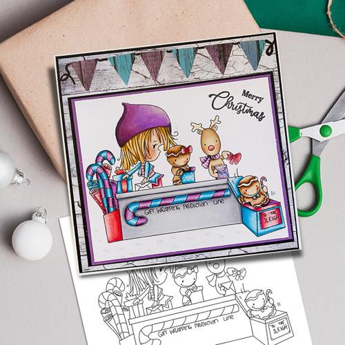 Santa's Workshop Production Line - Winnie North Pole digital stamp download including SVG file