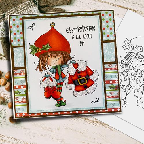 Santa's Suit - Winnie North Pole digital stamp download including SVG file