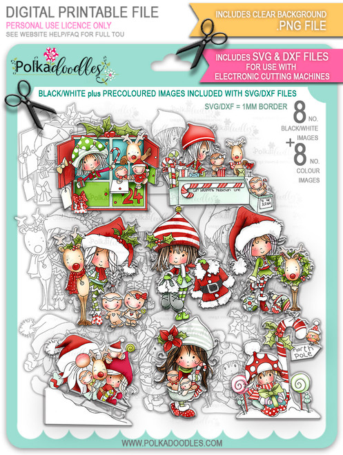 Winnie North Pole - Big Kahuna Bundle of digital stamp downloads including SVG file