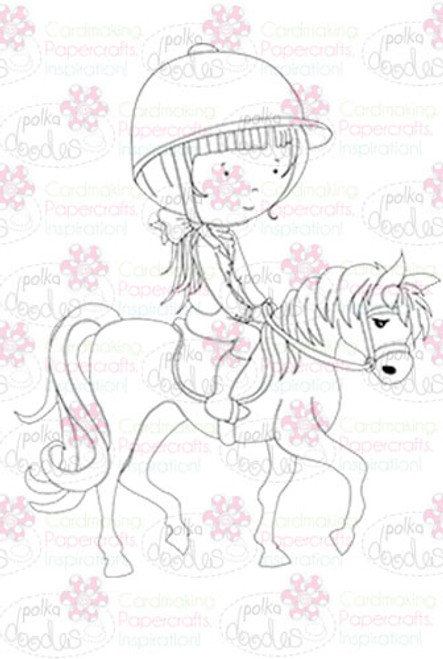Horse Riding digital stamp download