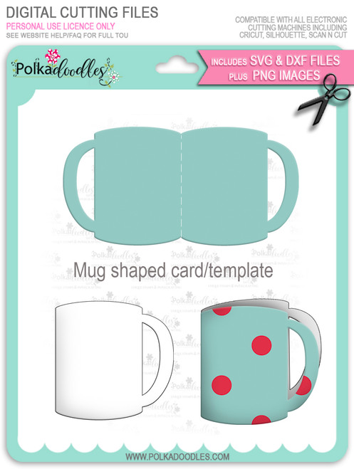 FREE Mug shaped card template