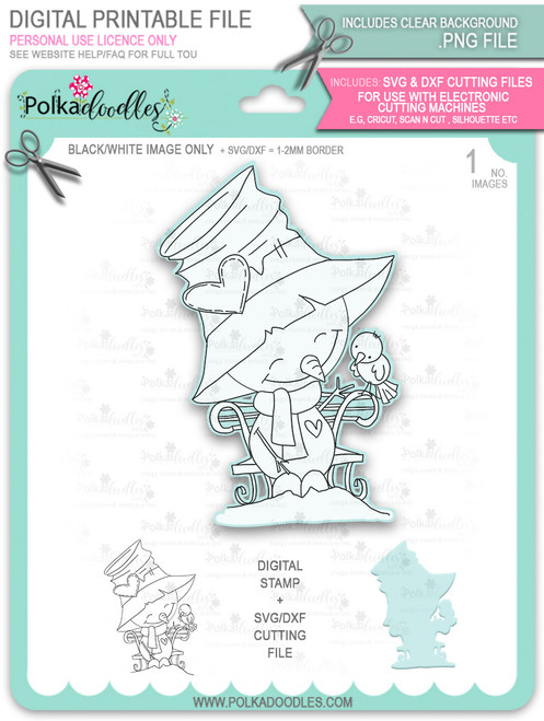 Sweet Tweets Too Cute digital stamp download including SVG file