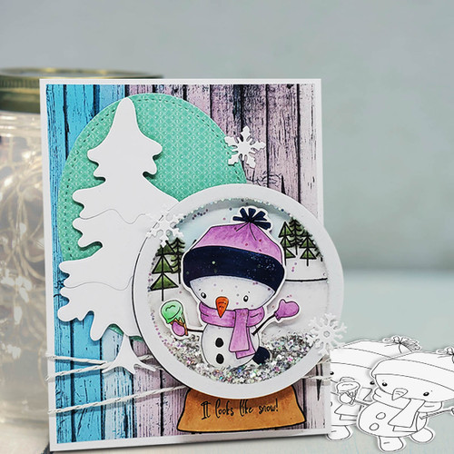 Ice Cream Snowman Too Cute digital stamp download including SVG file