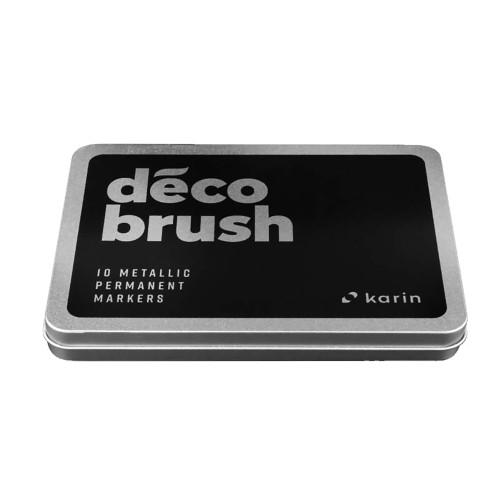 Karin Deco Brush Metallic markers, 10 COLOR SET