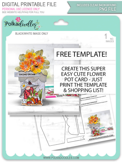 FREE Flower Pot shaped card template