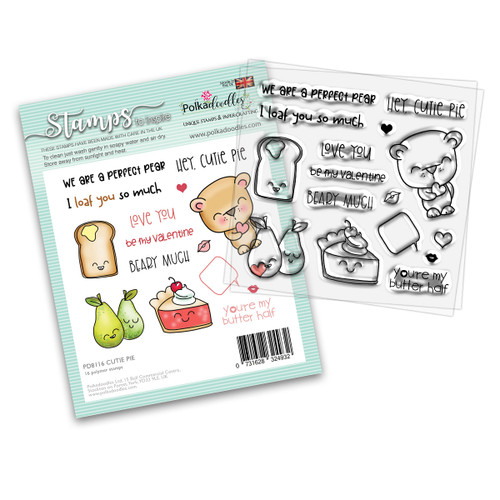 "Cutie Pie 4 x 4"" stamp set (PD8116)"