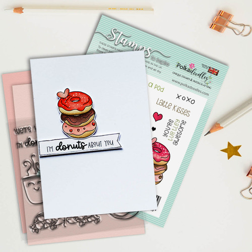 """Donuts About You 4 x 4"""" stamp set"""