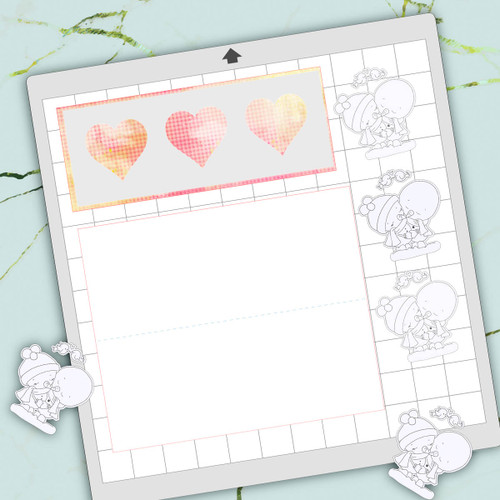 Free download - 3 heart template card for Silhouette Studio