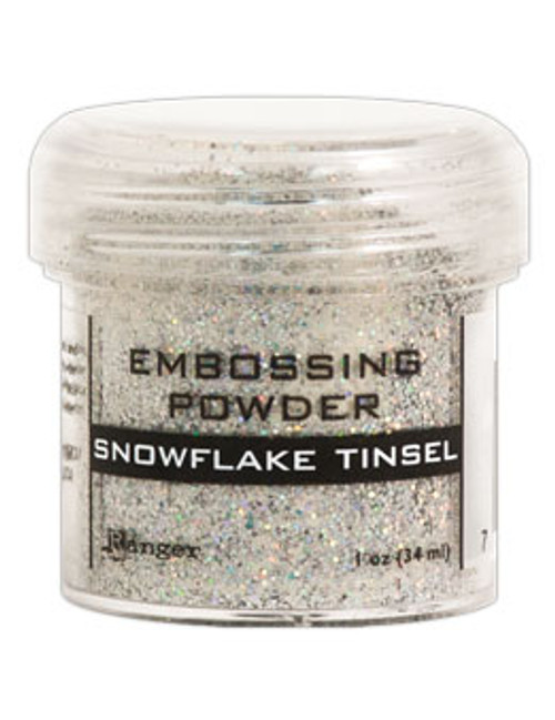Ranger/Tim Holtz Snowflake Tinsel Embossing Powder, 1oz Jar