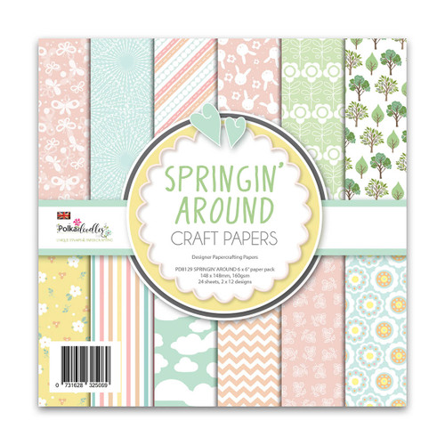 Springin' Around 6 x 6 Paper pack (PD8129) spring themed scrapbook and card making paper pack