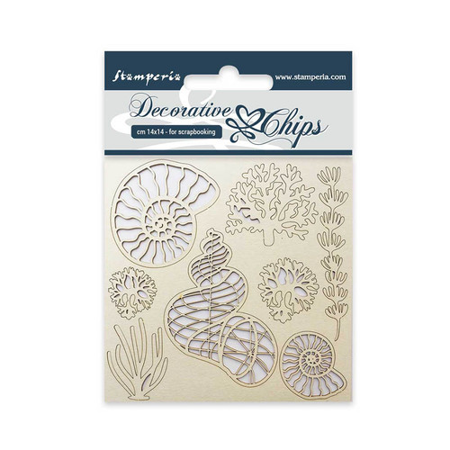 Stamperia Sea Shells Decorative Chips 14 x 14 cm