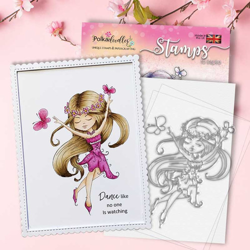 SERENITY Butterfly Dream - CLEAR POLYMER STAMP (PD7847)