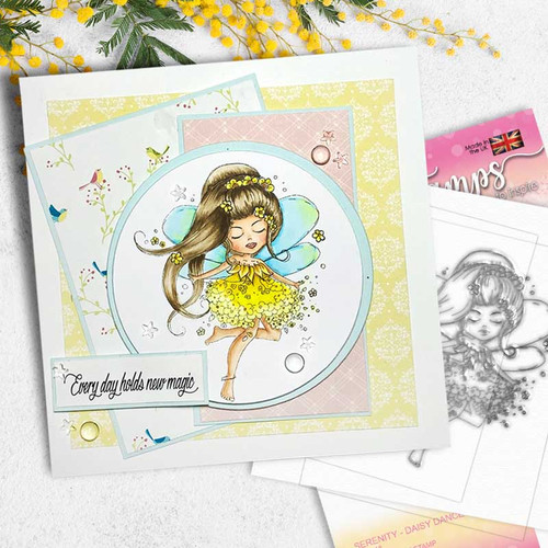 SERENITY Daisy Dance - CLEAR POLYMER STAMP (PD7848)
