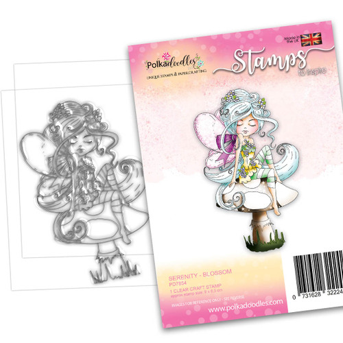 SERENITY Blossom - CLEAR POLYMER STAMP (PD7854)