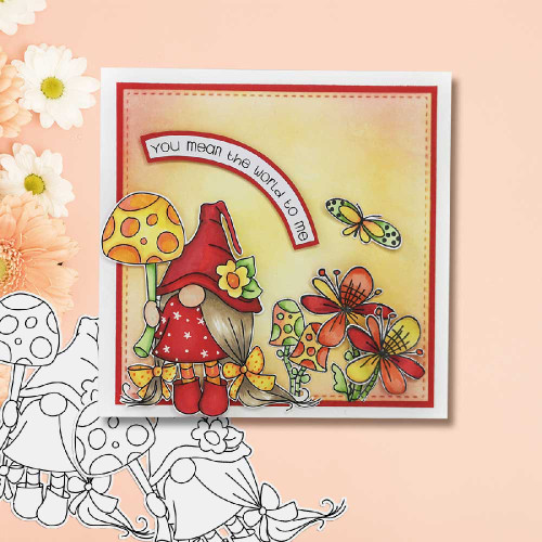 Gnome-tastic collection -  10 digital stamp printable download with free SVG /DXF file included