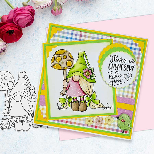 Gnome-tastic collection -  10 light skintone PRECOLOURED digital stamp printable download with free SVG /DXF file included