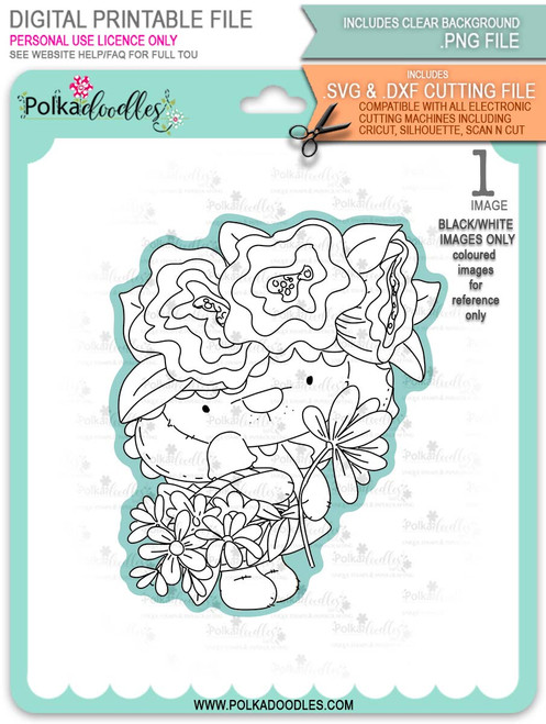 Bella Bear Easter Bonnet - printable downloads with free SVG /DXF files