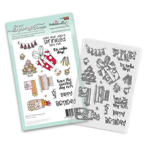 "SWEET BIRTHDAY 4 x 6"" Clear Stamp Set"