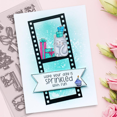 "SWEET BIRTHDAY 4 x 6"" Clear Stamp Set"