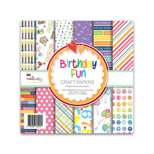 "BIRTHDAY FUN 6 X 6"" PAPER PACK"