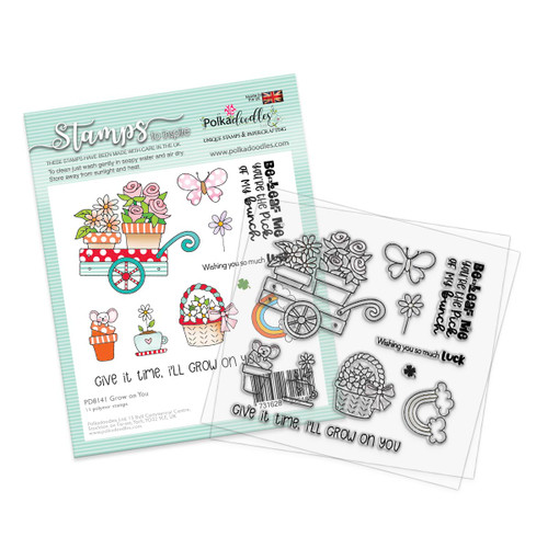 "Grow on You 4 x 4"" Clear Stamp set"
