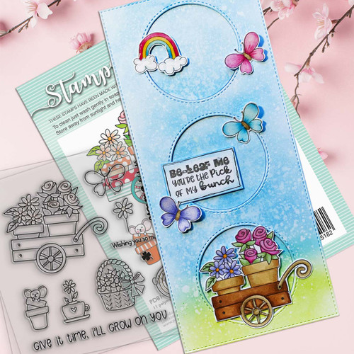 """Grow on You 4 x 4"""" Clear Stamp set"""
