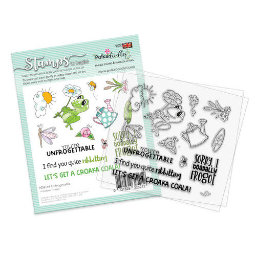 "Unfrogettable 4 x 4"" Clear Stamp Set"