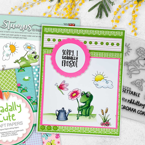 """Unfrogettable 4 x 4"""" Clear Stamp Set"""