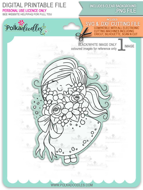 Blossoming -Winnie - printable downloads with free SVG /DXF files