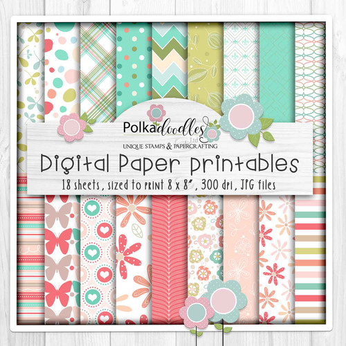 Lets Hang Out - 18 Printable Papers - Winnie download bundle