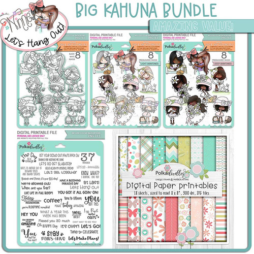 Lets Hang Out - Winnie - Big Kahuna bundle printable downloads