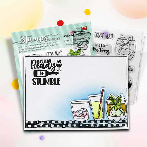 """Ready to Stumble - card idea for Men's themed 4 x 4"""" Stamp set"""